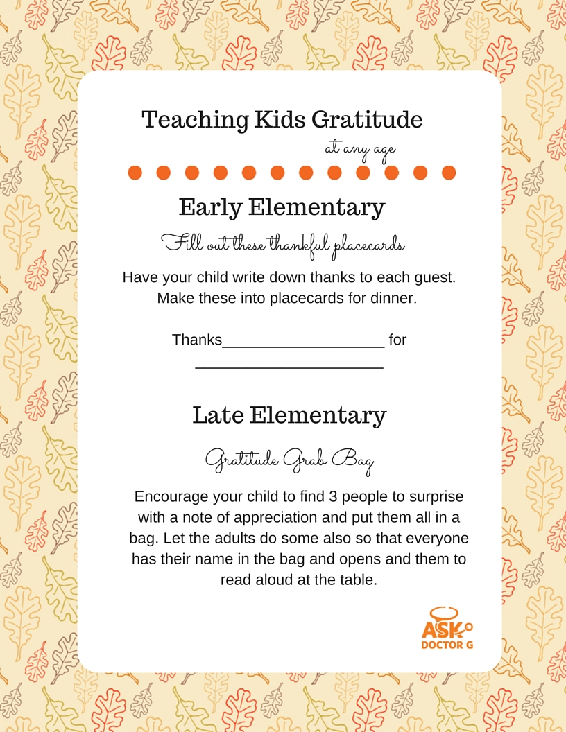 getting your kids ready for thanksgiving table manners gratitude the ask doctor g gratitude for early elementary and late elementary kids guide